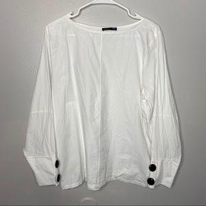Zara White Top Size Large